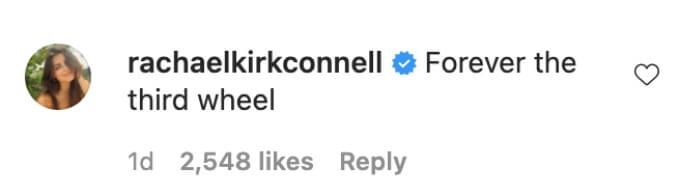 Rachael commented on Matt James's Instagram post.