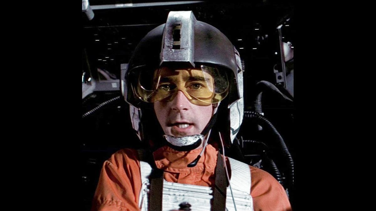 Wedge Antilles in his cockpit