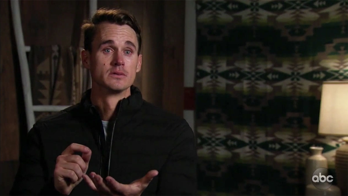 The Bachelorette's Mike the Virgin having a meltdown on the group date