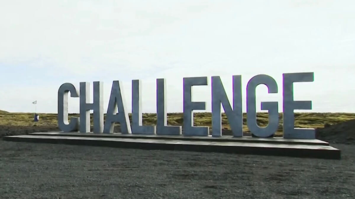 the challenge double agents logo on site of a daily mission