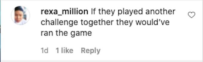 fan of the challenge posts ig comment about power couples