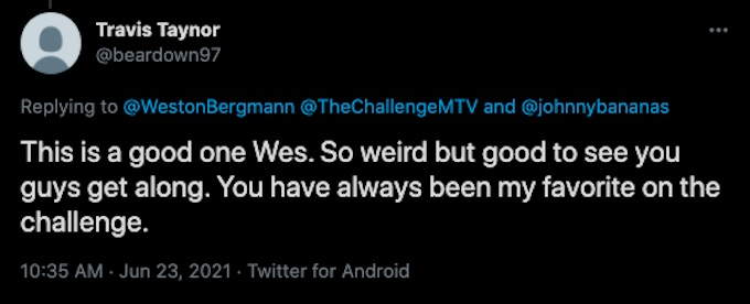 challenge fan reacts to wes joke about bananas
