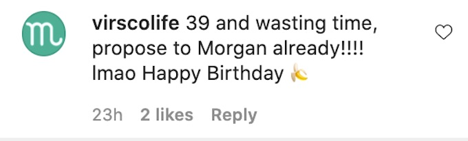 the challenge fan comments on johnny bananas ig birthday post
