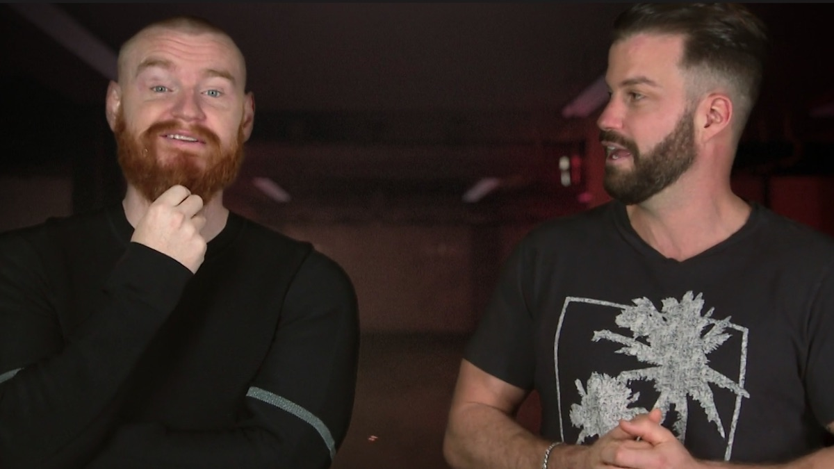wes bergmann and johnny bananas during the challenge total madness