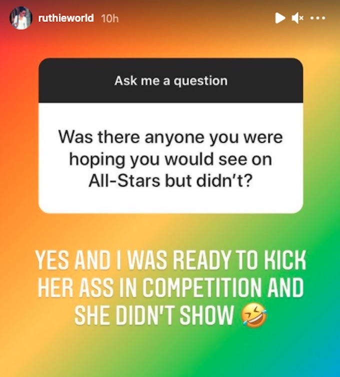 ruthie alcaide comments about all stars cast