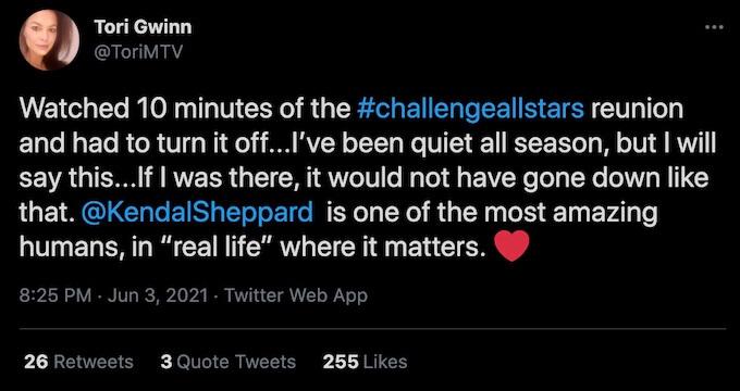 tori deal tweet about all stars reunion