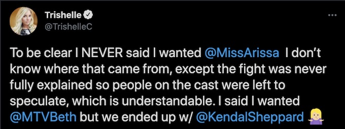 trishelle comments on all stars reunion discussion