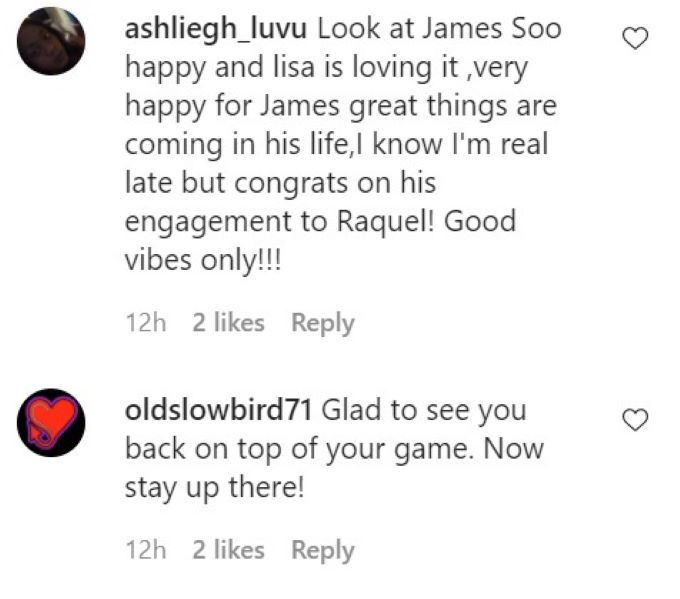 Screenshot from James Kennedy's IG post.