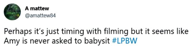 LPBW on Twitter