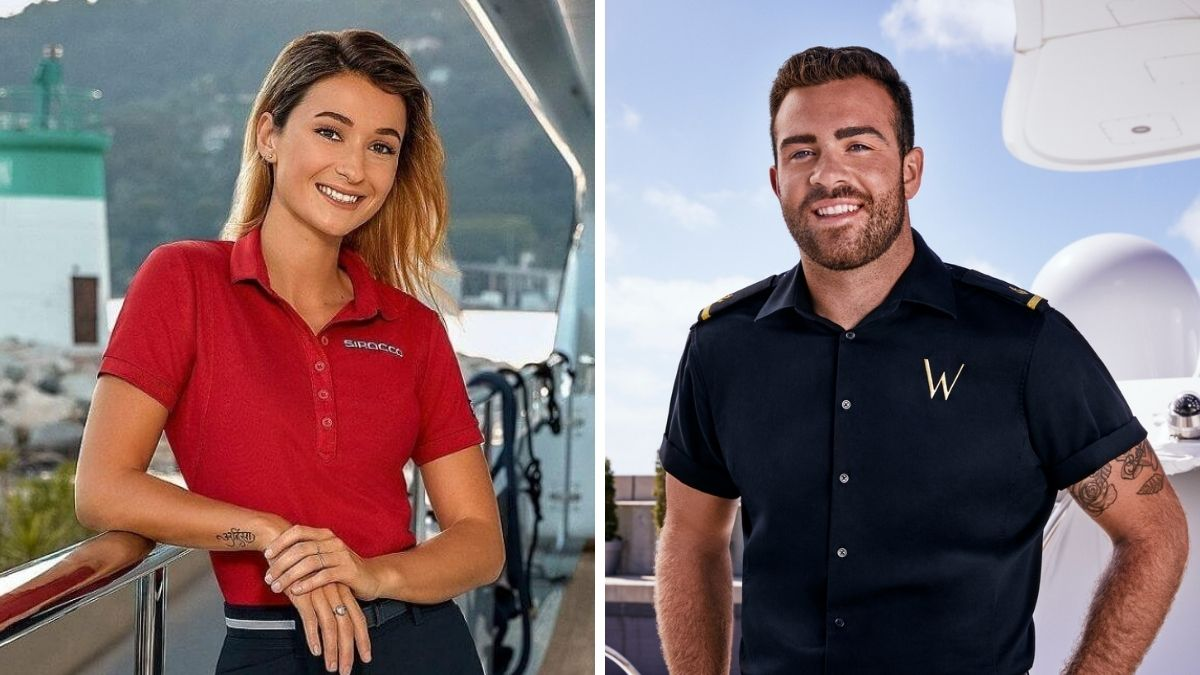 Anastasia Surmava and Alex Radcliffe from Below deck Med launch new podcast.