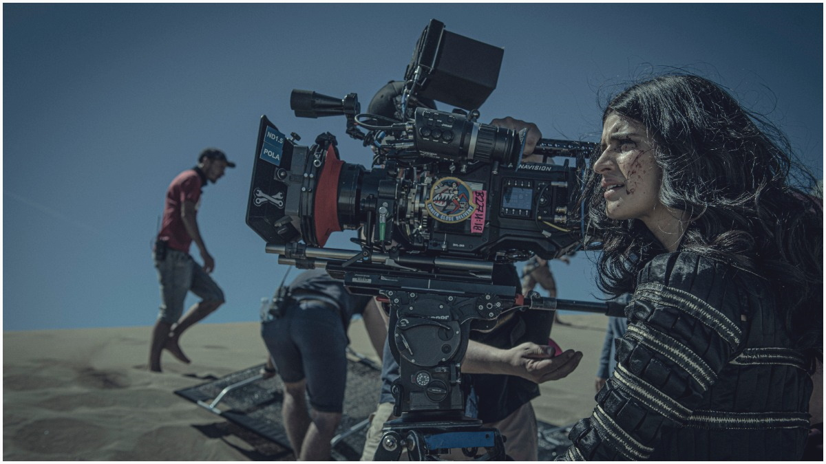 Anya Chalotra stars as Yennefer, as seen behind the scenes in Season 1 of Netflix's The Witcher