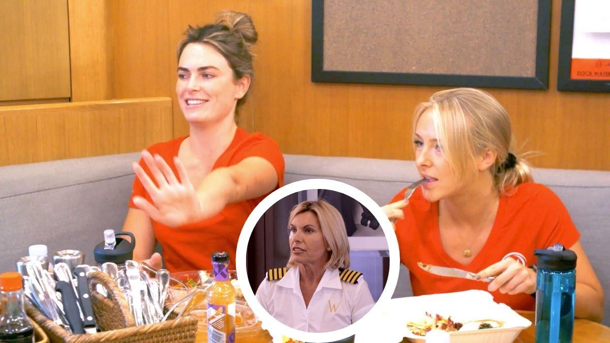 Katie Flood from Below Deck Mediterranean dishes Captain Sandy Yawn and her interior team.