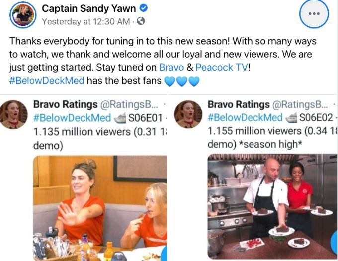 Captain Sandy Yawn Facebook post