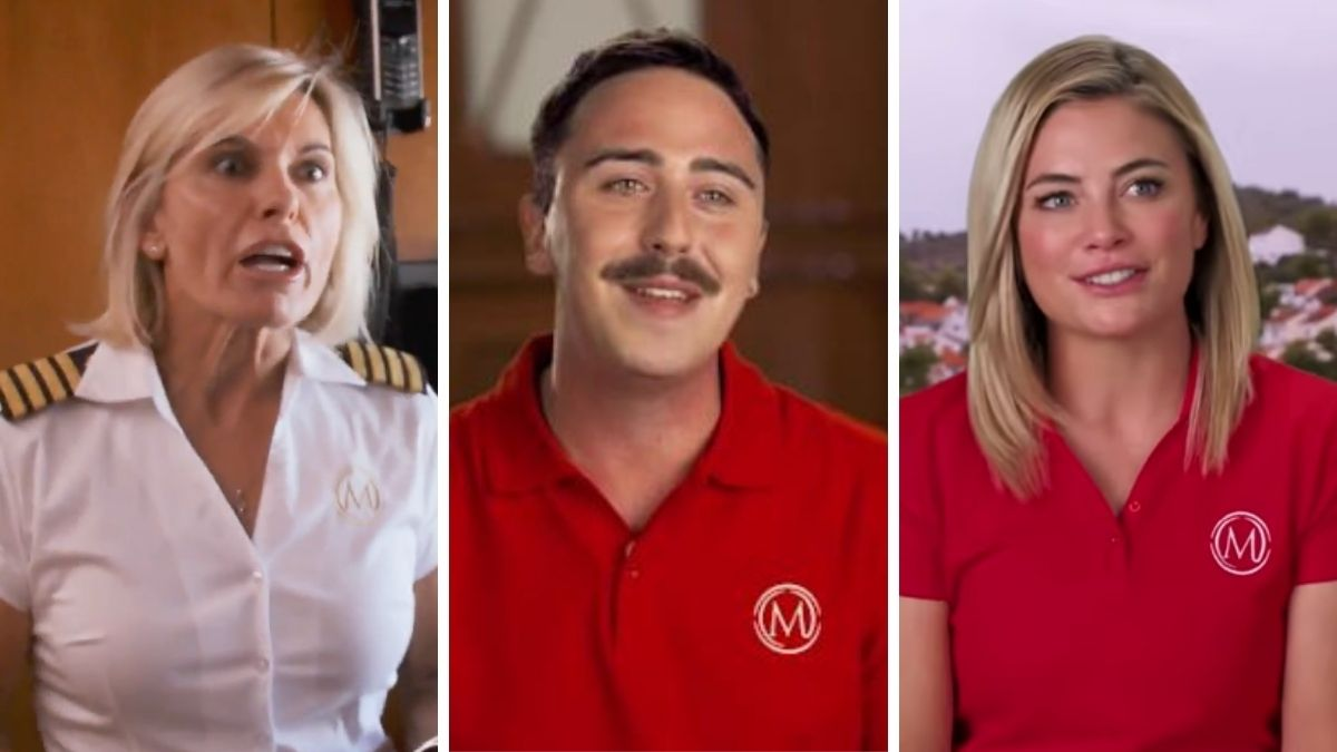 Lloyd Spencer from Below Deck Mediterranean dishes Malia White and Captain Sandy Yawn.