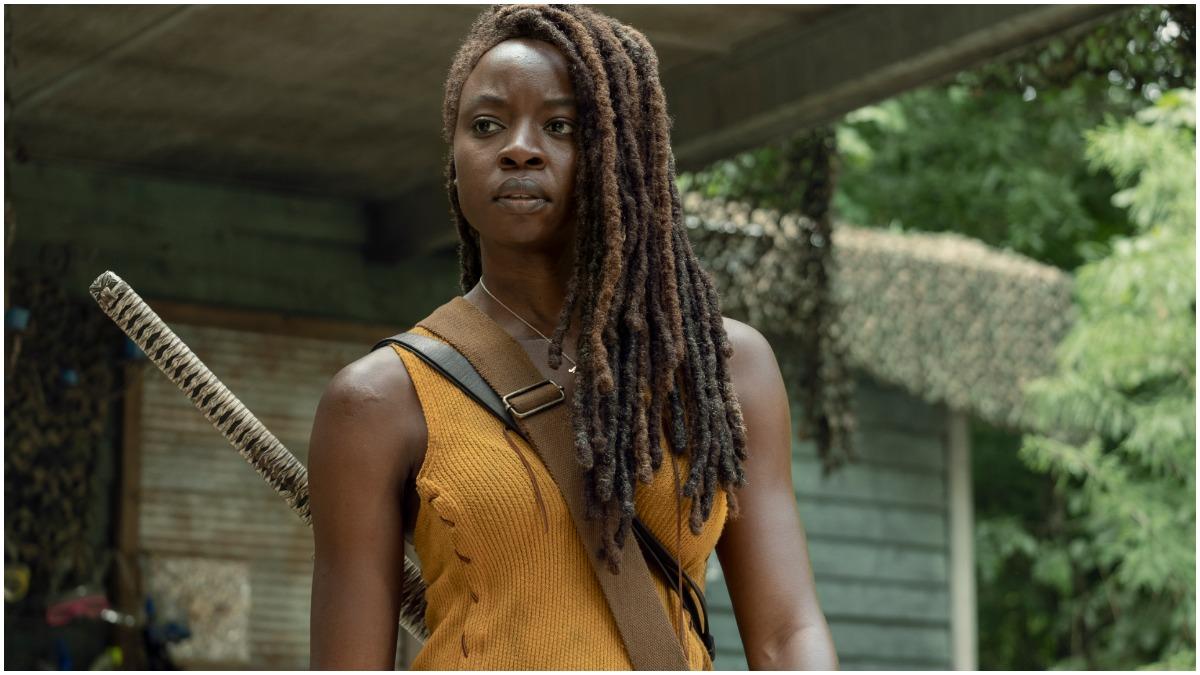 Danai Gurira stars as Michonne, as seen in Episode 8 of The Walking Dead Season 10.