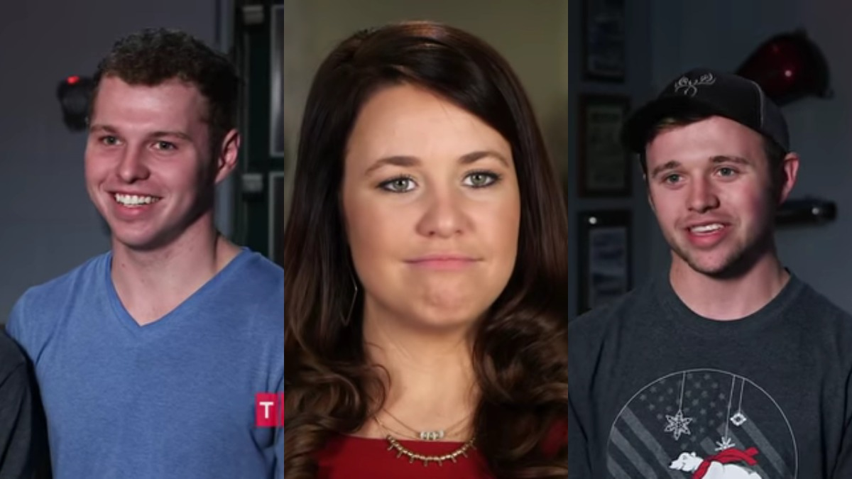 Jeremiah, Jana, and Jason Duggar in Counting On confessionals.