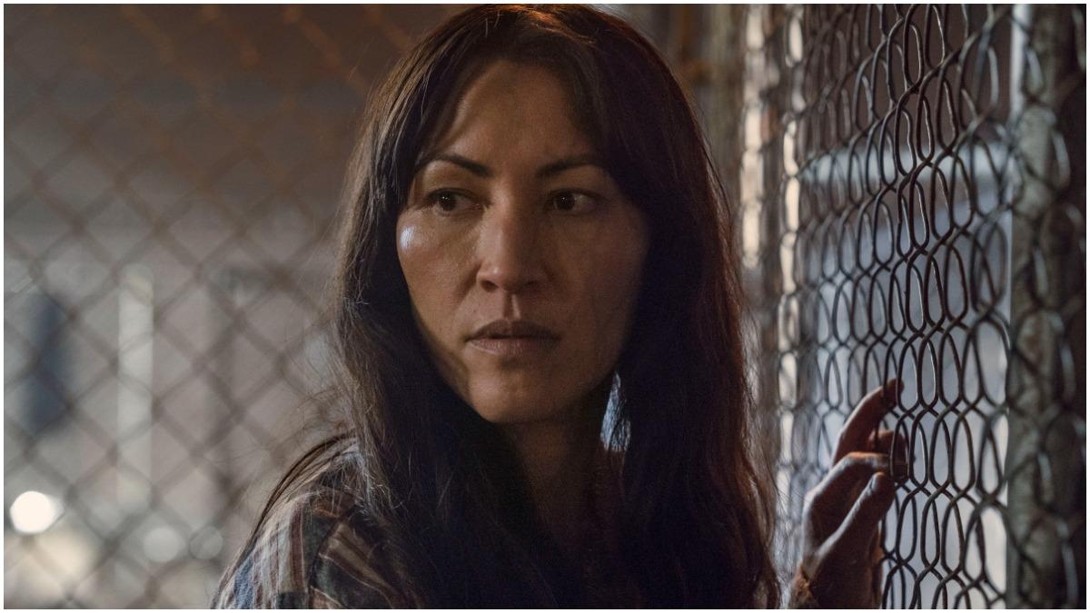 Eleanor Matsuura stars as Yumiko, as seen in Season 11 of AMC's The Walking Dead