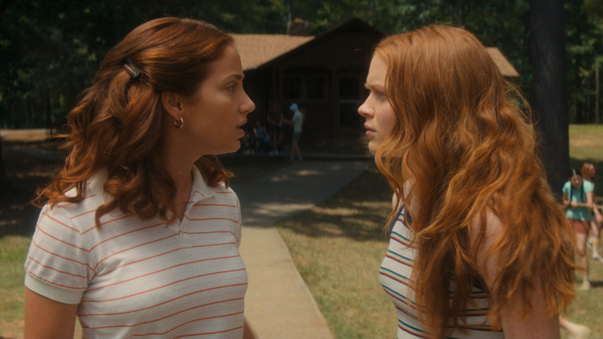 Emily Rudd and Sadie Sink in Fear Street Part 2: 1978.