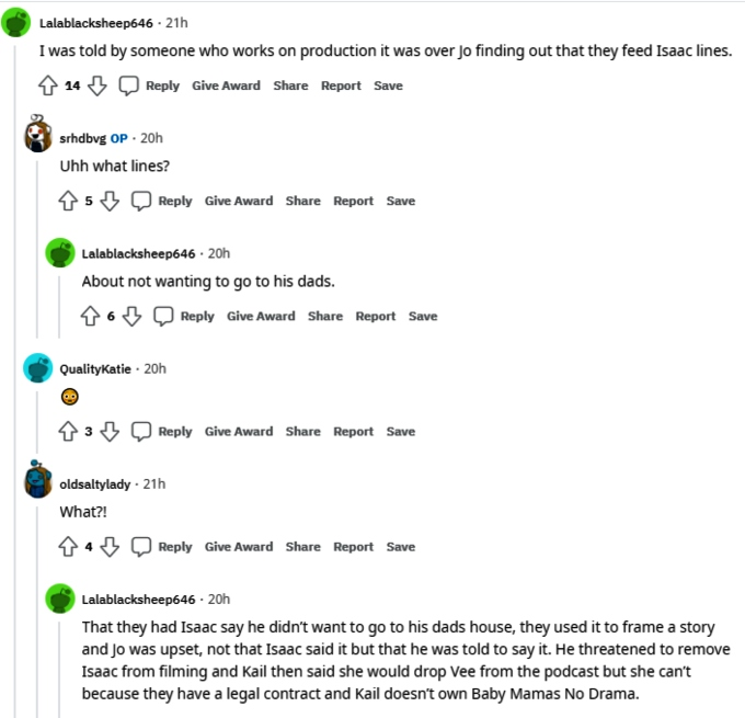 Kail Lowry and Vee Rivera of Teen Mom 2 on Reddit