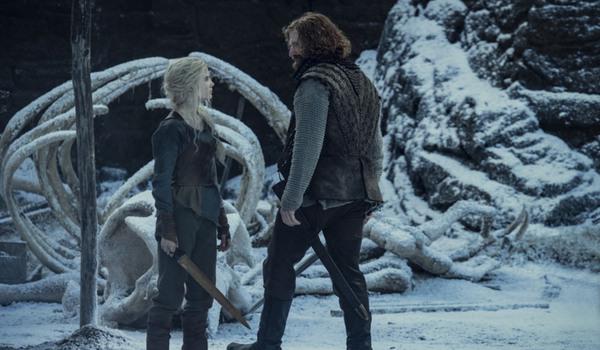 Freya Allan as Ciri and Paul Bullion as Lambert, as seen in Season 2 of Netflix's The Witcher