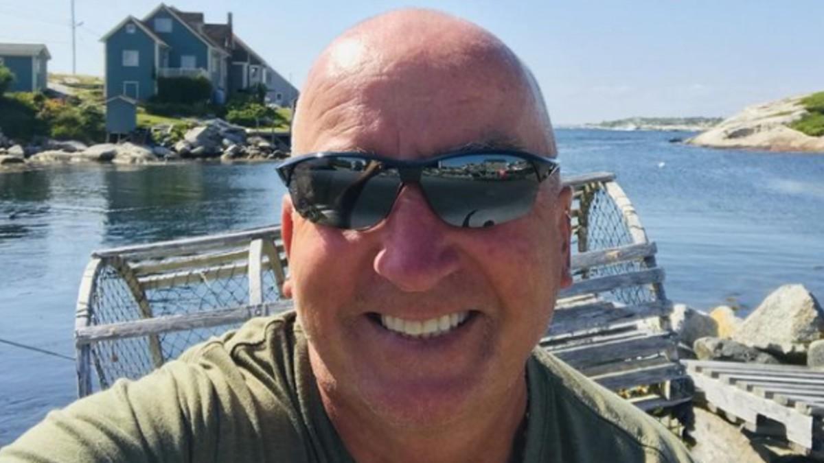 Gary Drayton on a boat near Oak Island