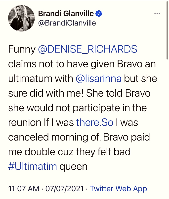 Brandi Glanville calls out Denise Richards