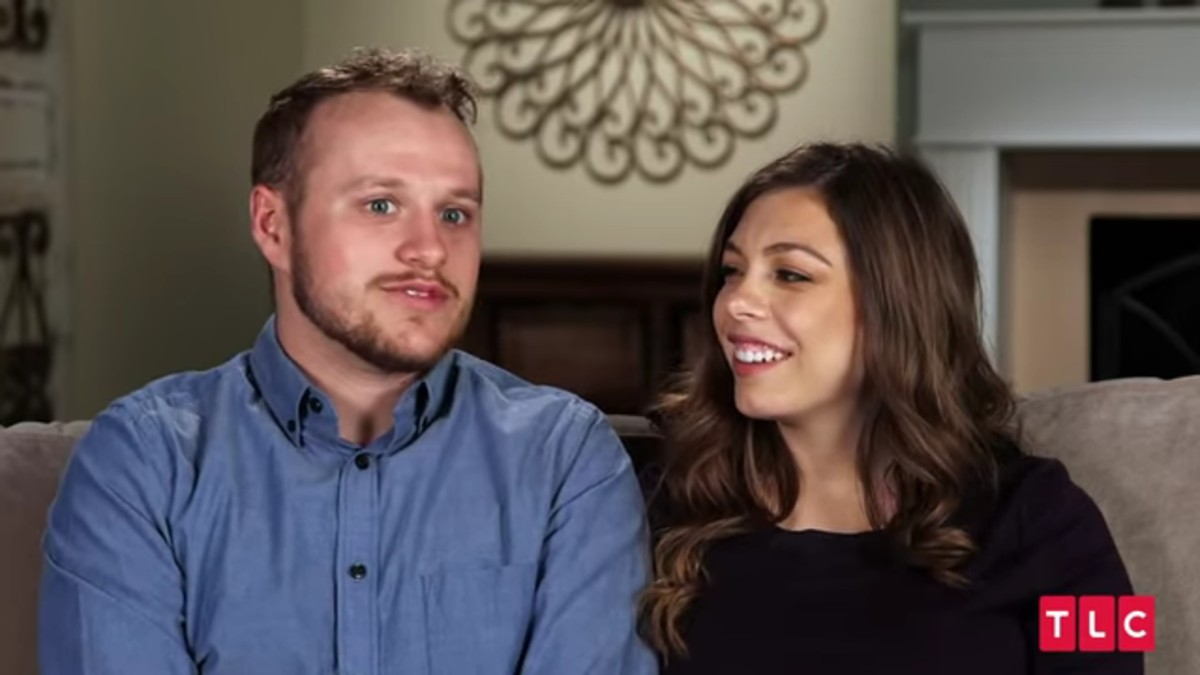 Lauren Swanson and Josiah Duggar in a confessional.