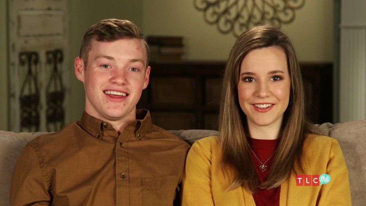 Justin Duggar and Claire Spivey in a confessional.