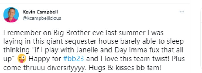 Kevin BB23 Post