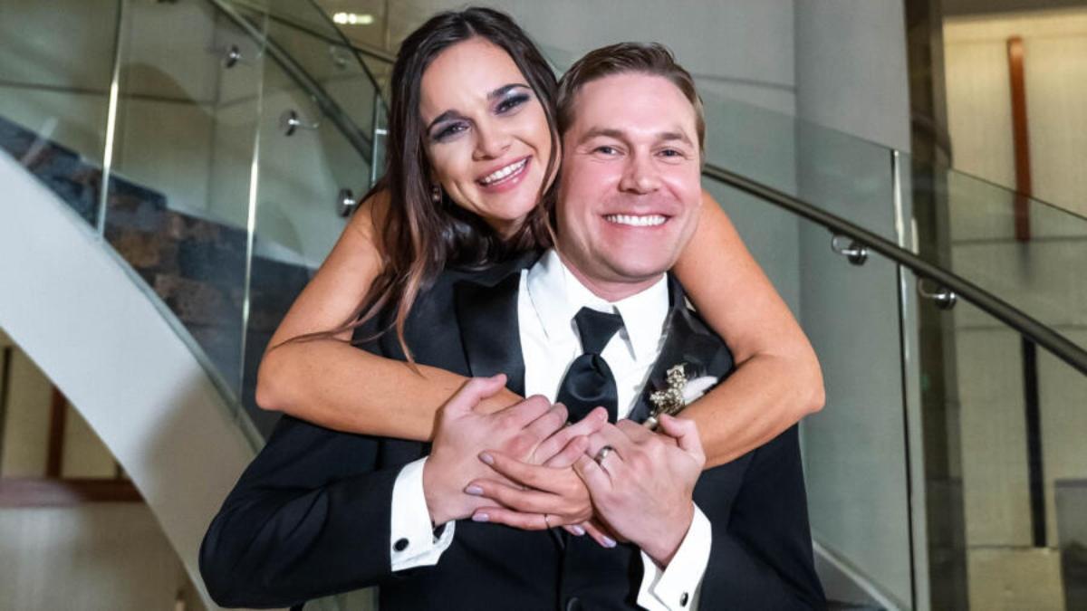 MAFS Erik and Virginia pose for post wedding photo
