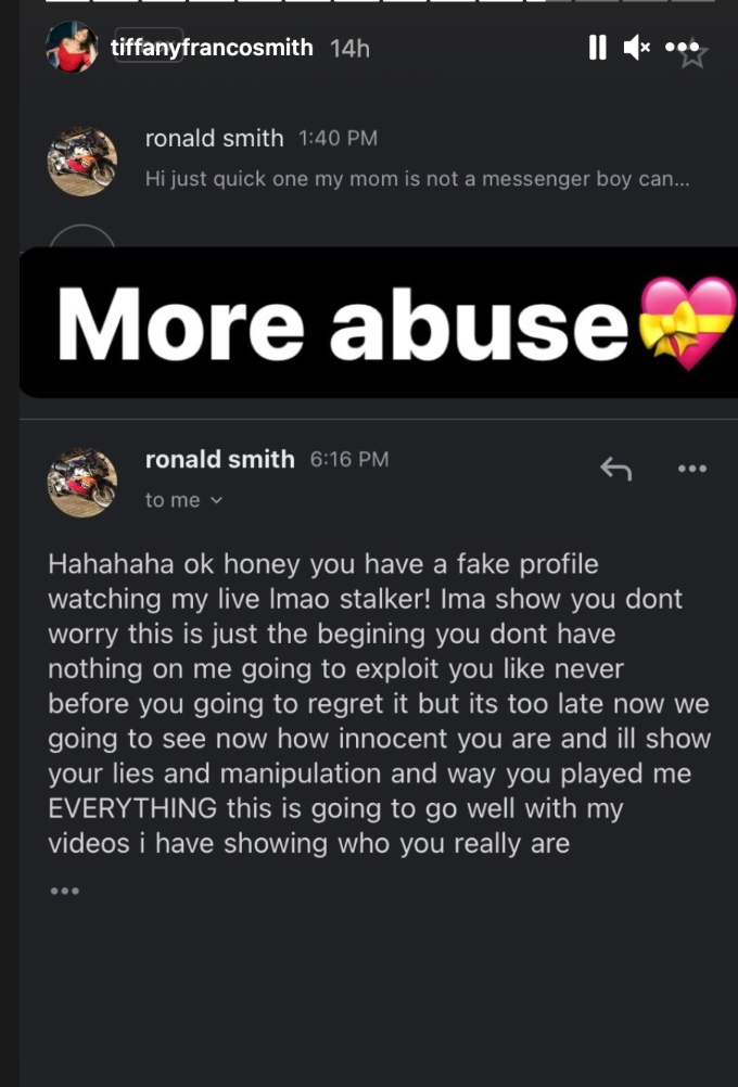 Tiffany Franco sharing her abuse.
