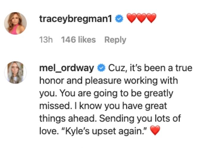 Tracy and Melissa say goodbye to Michale