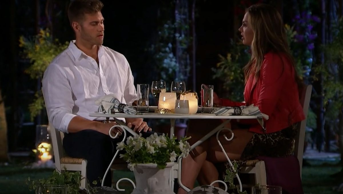 Hannah Brown and Luke Parker talk about virginity during their dinner date on The Bachelorette