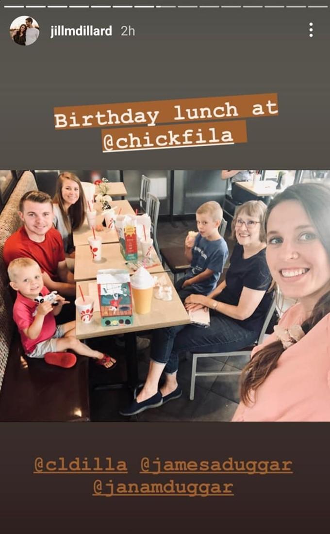 Samuel's birthday lunch.