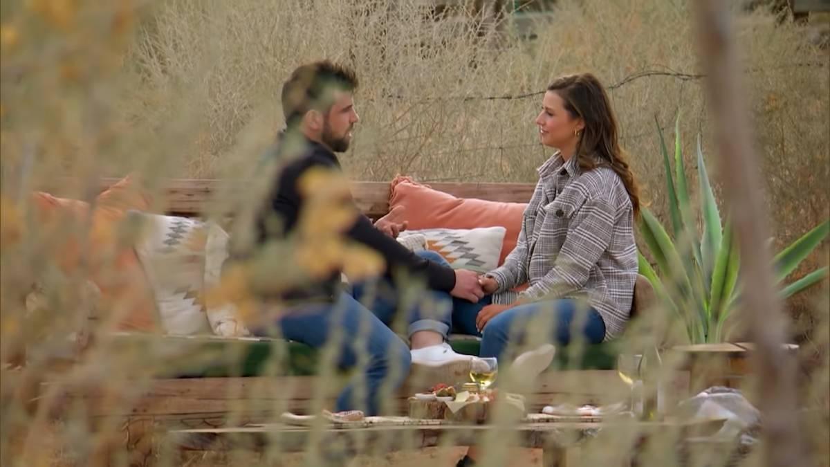 Blake Moynes and Katie Thurston film for The Bachelorette.