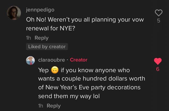 Clara responds to a comment
