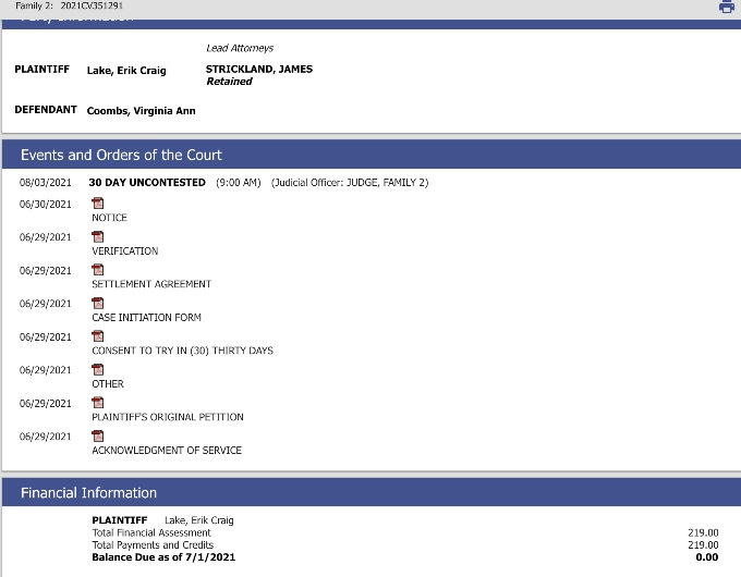 MAFS's Erik and Virginia's court records