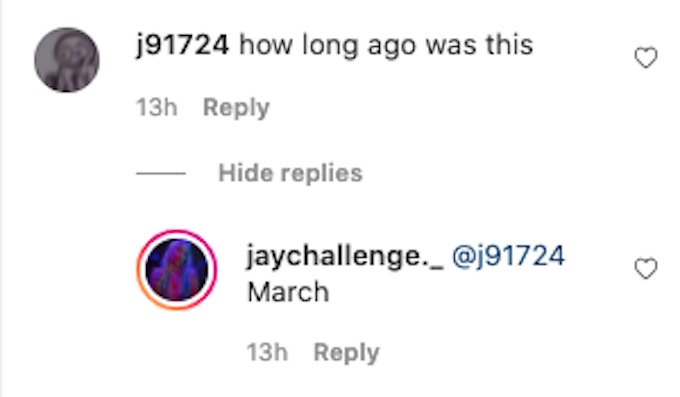 jaychallenge replies to fan question about kaycee taylor convo