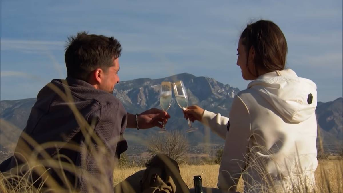 Katie and Michael Allio film for The Bachelorette