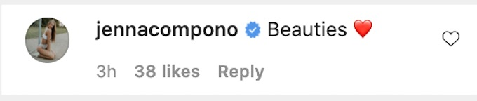 jenna compono of the challenge comments on nany ig photos