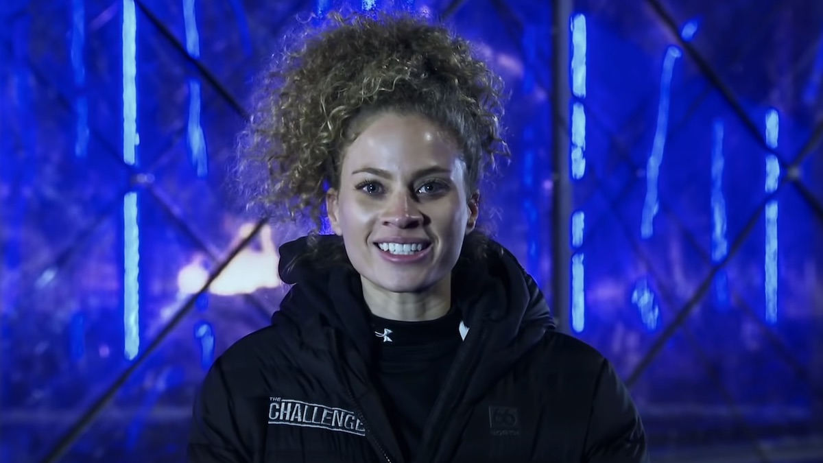 amber borzotra during the challenge double agents hall brawl