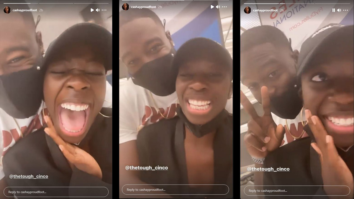Cashay posts video of Cinco meeting her at the airport after Love Island USA