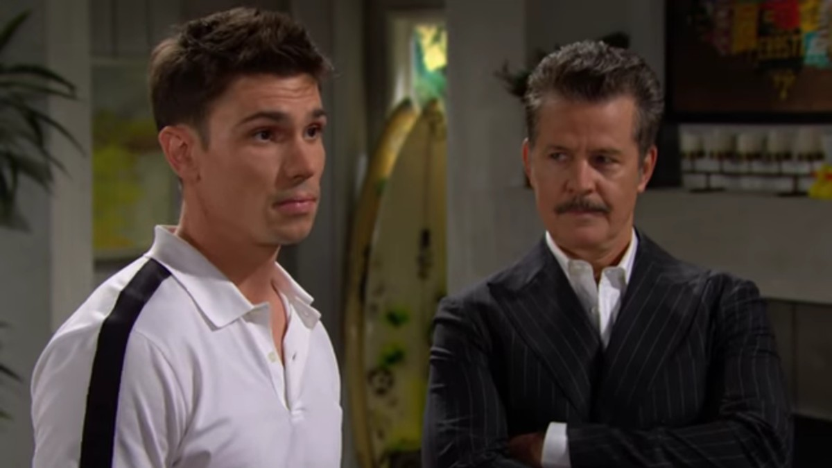 Finn and his dad on The Bold and the Beautiful.