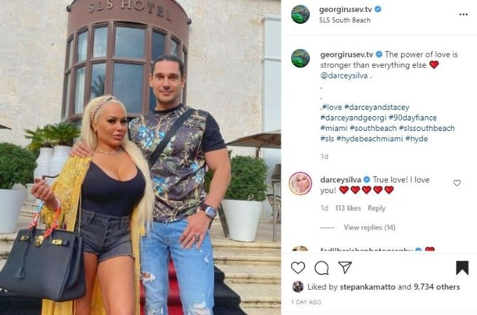 Georgi posts about relationship with Darcey