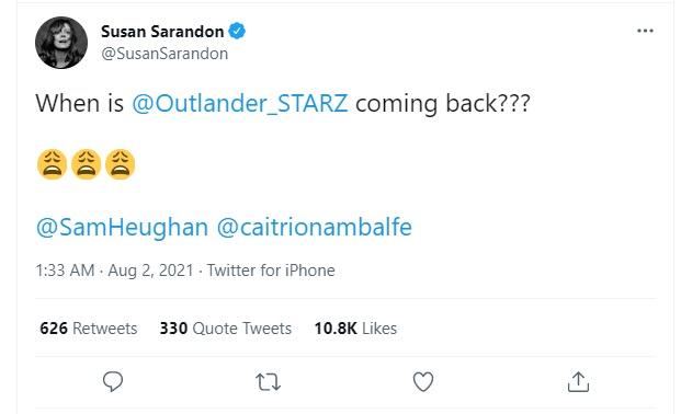 Susan Sarandon desperately wants to know when Season 6 will drop