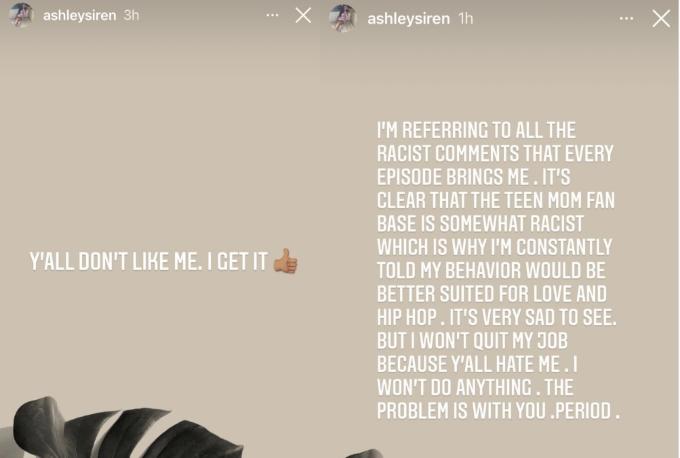 Teen Mom 2:Ashley Jones slams racist trolls, says I won't quit my job because you hate me'